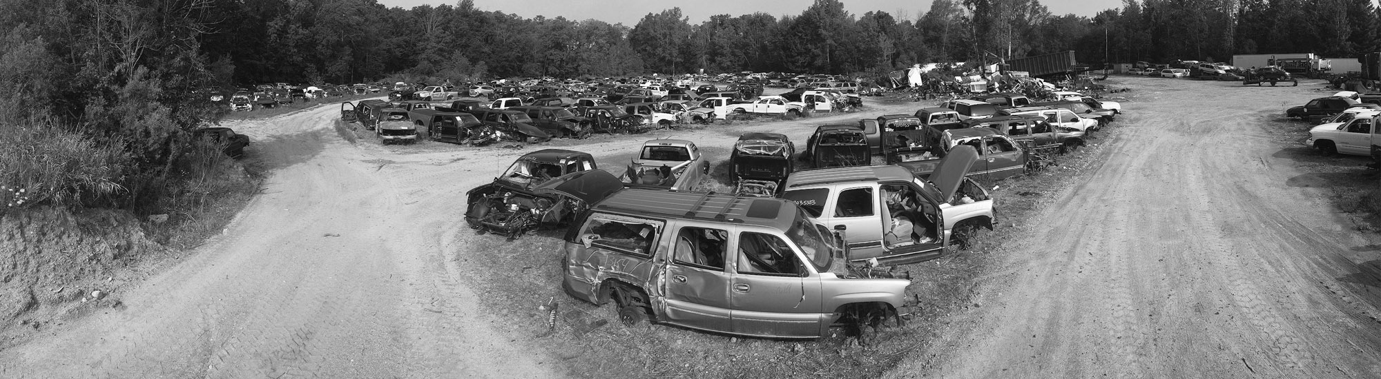 View of the yard at Doug's Auto Recyclers in Coldwater, MI